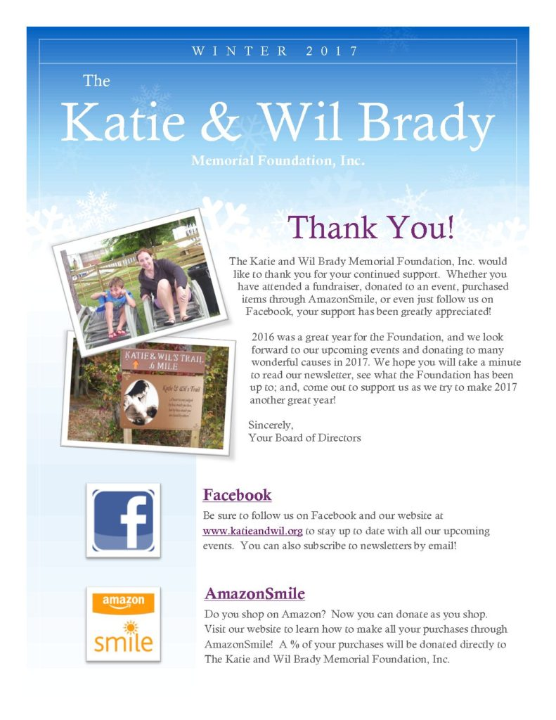 2017 Katie and Wil Winter Newsletter